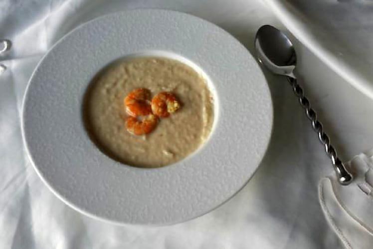 Soupe de panais aux crevettes