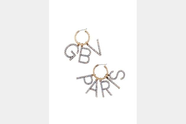 Boucles d'oreilles strass collection Giambattista Valli x H&M hiver