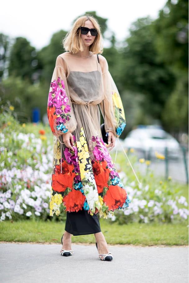 Street style à Paris : la robe florale