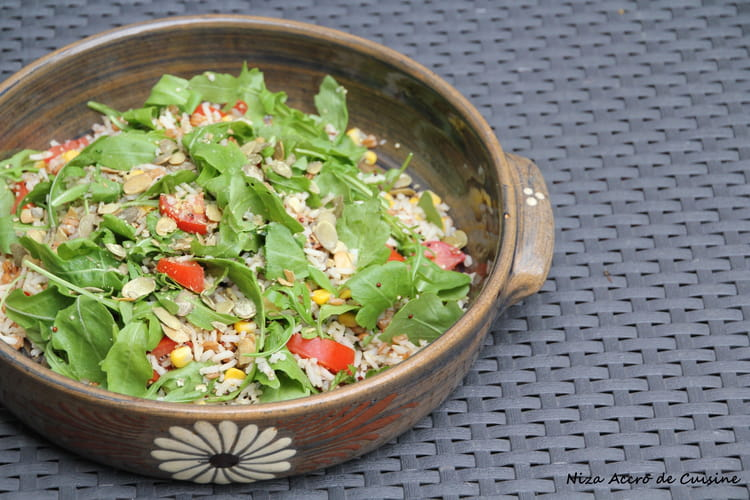 Salade de riz, quinoa et épeautre