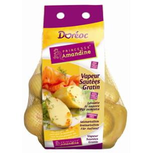 la princesse amandine a inauguré le système de marque pour la pomme de terre.