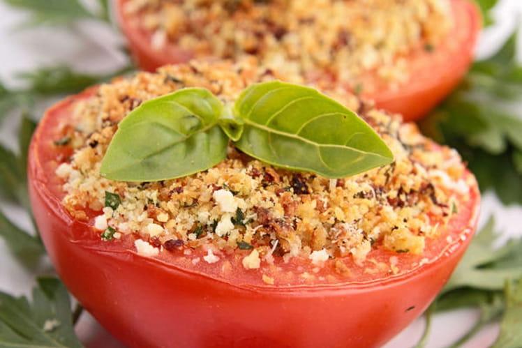 Tomates à la provençale avec chapelure