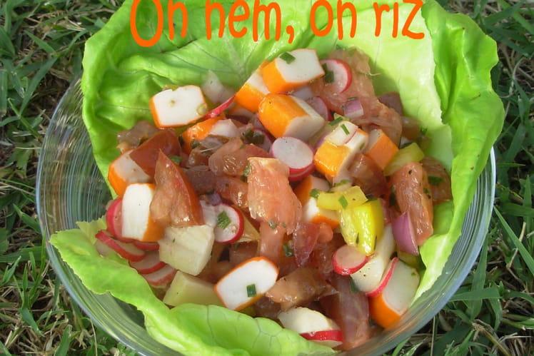 Salade fraîcheur colorée