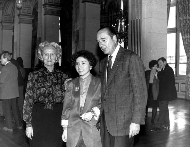 Le couple Chirac avec leur fille adoptive Anh Dao