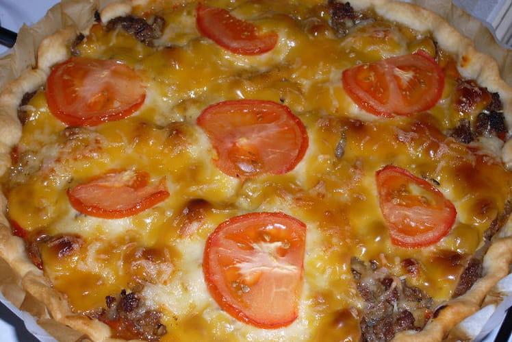 Tarte pizza-burger