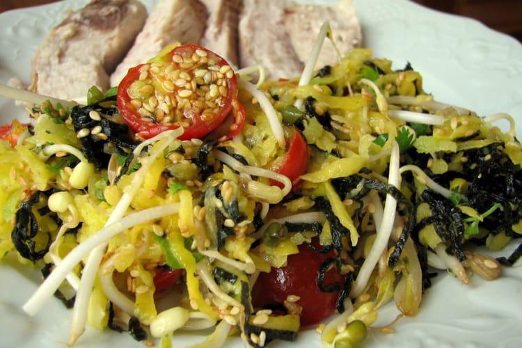 Salade exotique à l'espadon