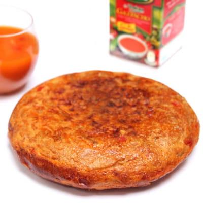 tortilla aux betteraves et à la tomate