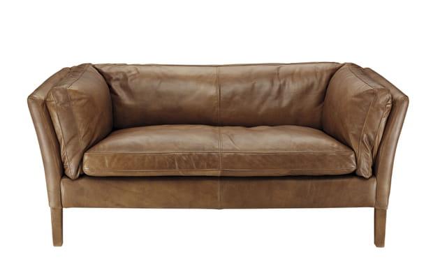 canap en cuir lauren de now 39 s home. Black Bedroom Furniture Sets. Home Design Ideas