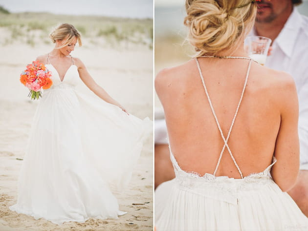 La robe légère de la mariée surfeuse