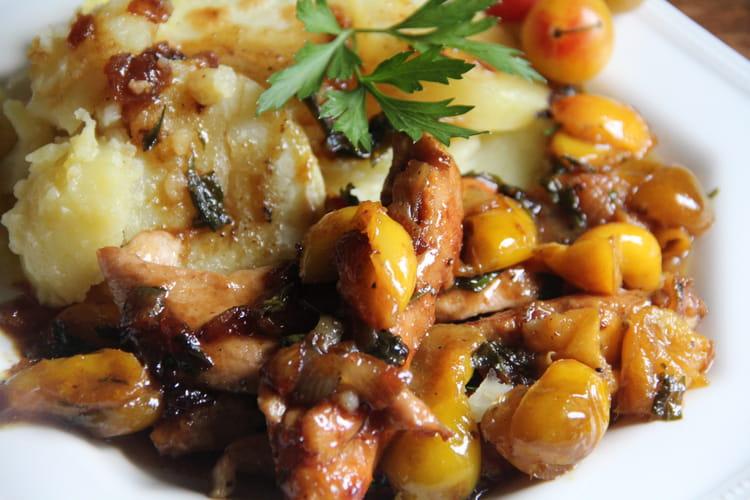 Aiguillettes de poulet aux mirabelles, miel et curry
