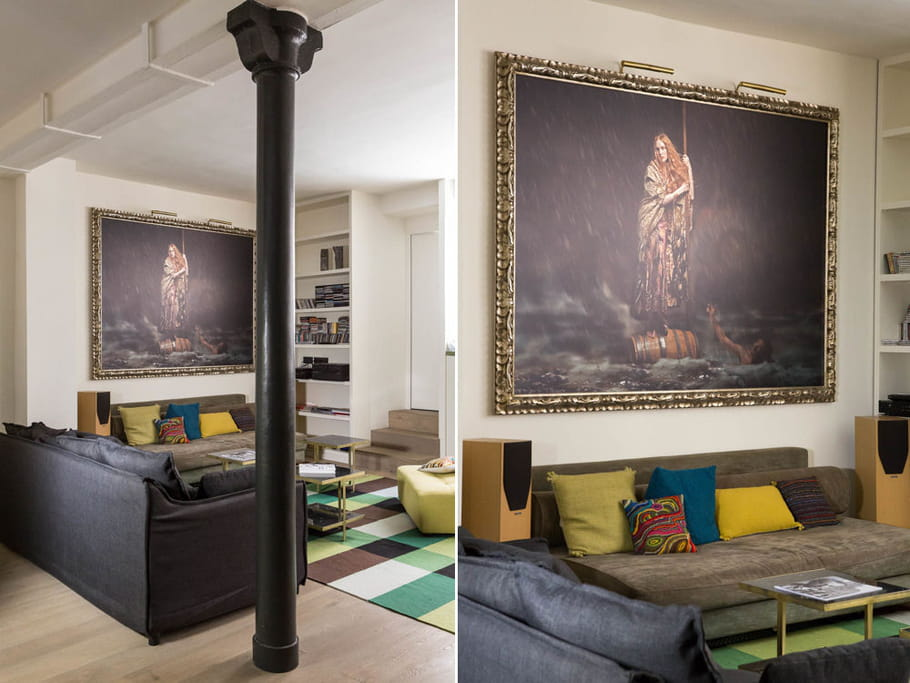 coin canap un appartement o presque tout est ouvert journal des femmes. Black Bedroom Furniture Sets. Home Design Ideas