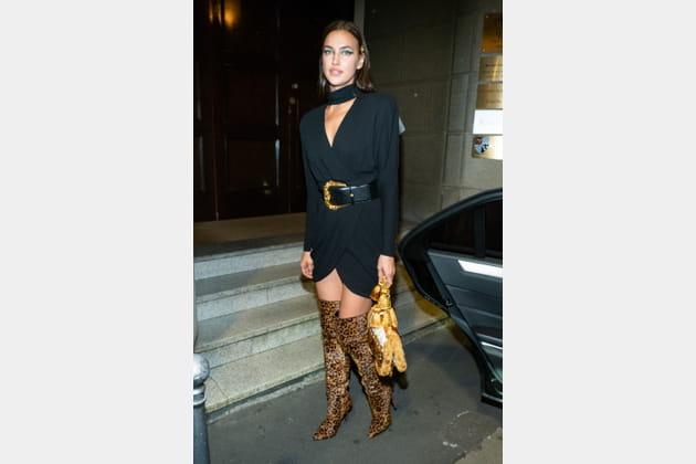 Irina Shayk au dîner Versace