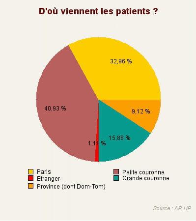 environ 90% des patients accueillis à l'ap-hp sont domiciliés en ile-de-france,