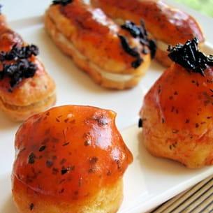 eclairs et choux à la sardine glacés tomatobasilic
