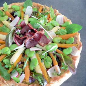 tarte feuilletée aux légumes printaniers