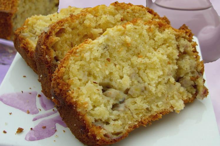 Cake banane-noix de coco