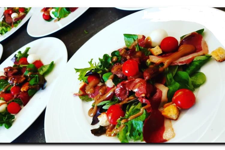 Sauce salade miel et vinaigre balsamique