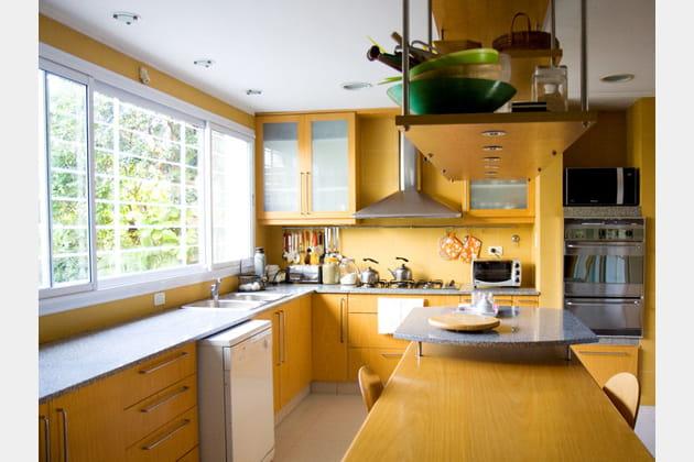 Grande cuisine en bois