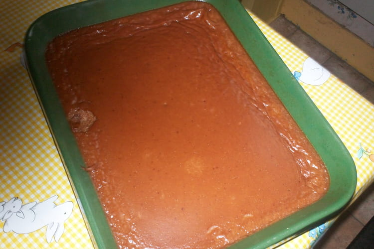 Flan au chocolat sans pâte