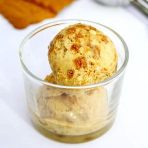 crème glacée au spéculoos (sans sorbetière)