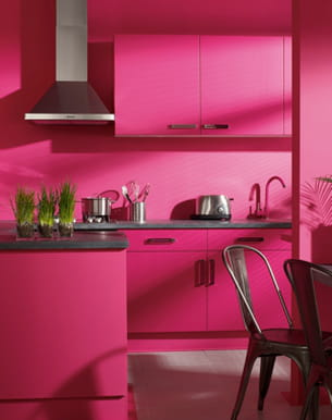 Peinture rose fuchsia de luxens pour leroy merlin - Peinture chambre leroy merlin ...