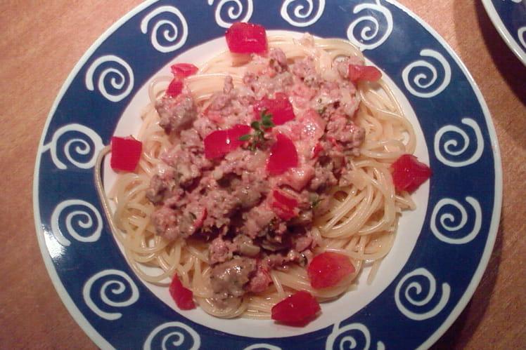 Spaghettis à la paysanne