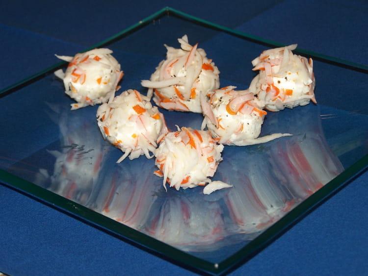 recette amuse bouches de surimi au fromage frais la recette facile. Black Bedroom Furniture Sets. Home Design Ideas