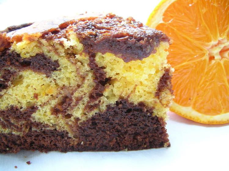 recette de gâteau marbré chocolat /orange : la recette facile
