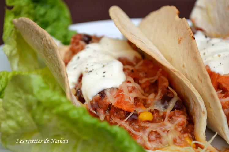 Tacos express au chili con carne
