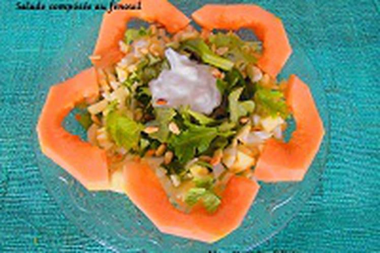 Salade composée avec du fenouil