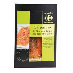 carpaccio de saumon fumé