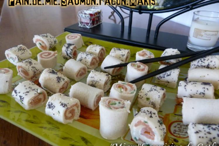 Pain de mie saumon façon makis