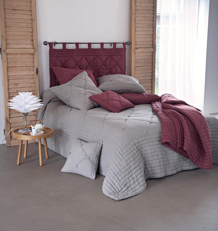 dessus de lit 100 lin par becquet. Black Bedroom Furniture Sets. Home Design Ideas