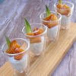 ananas roti au miel sur son lit de perles coco