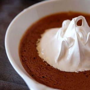 crème brûlée au chocolat façon s'mores