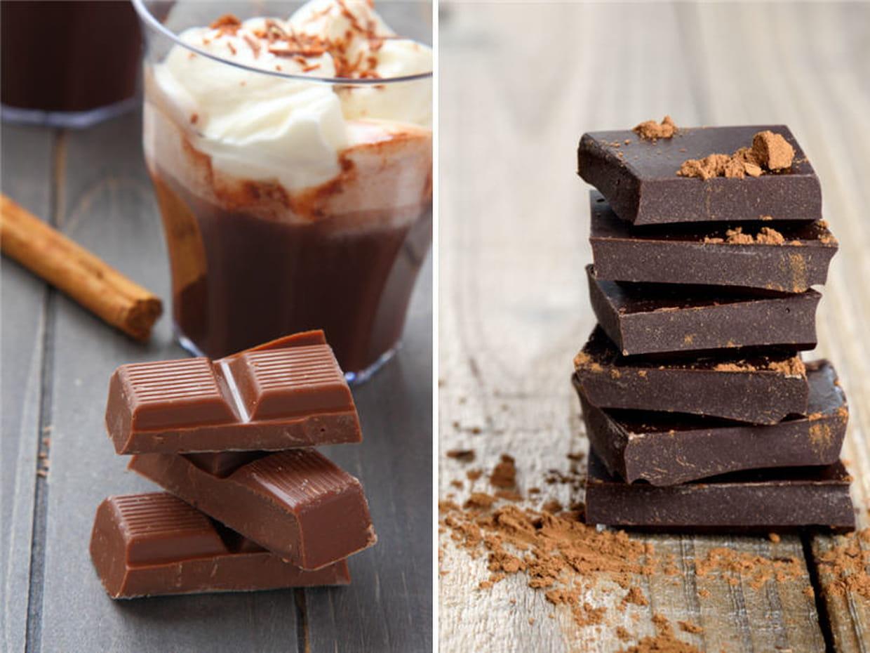 chocolat noir ou chocolat au lait. Black Bedroom Furniture Sets. Home Design Ideas