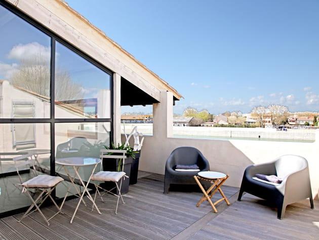 Terrasse sur le Rhône