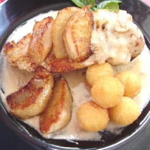 poulet aux poires et roquefort
