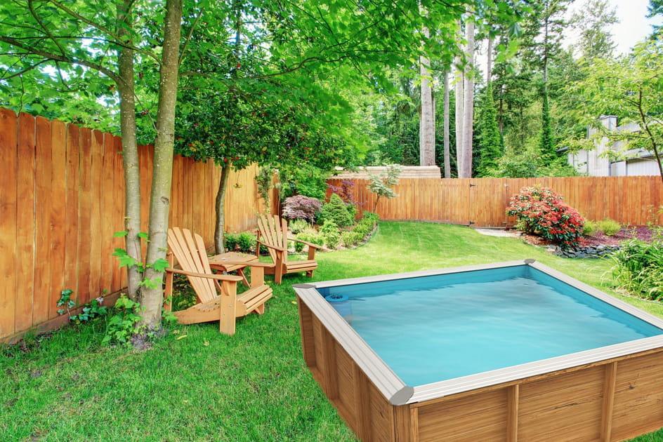 Une piscine carrée pour les enfants
