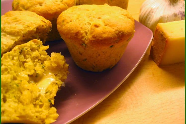 Petits pains à l'ail et au curry, coeur de comté