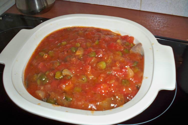 Langue de boeuf sauce piquante à la tomate