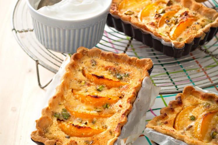 Tarte amandine pistaches/abricots