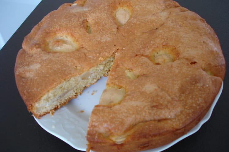 Gâteau aux poires au beurre salé