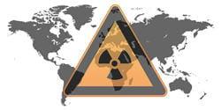 plus on s'éloigne du lieu de la fuite radioactive, plus les risques de
