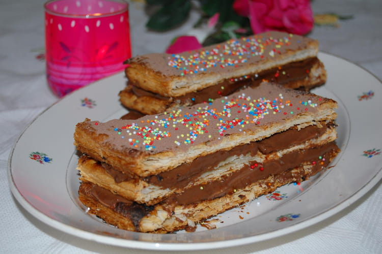 Mille-feuille au chocolat
