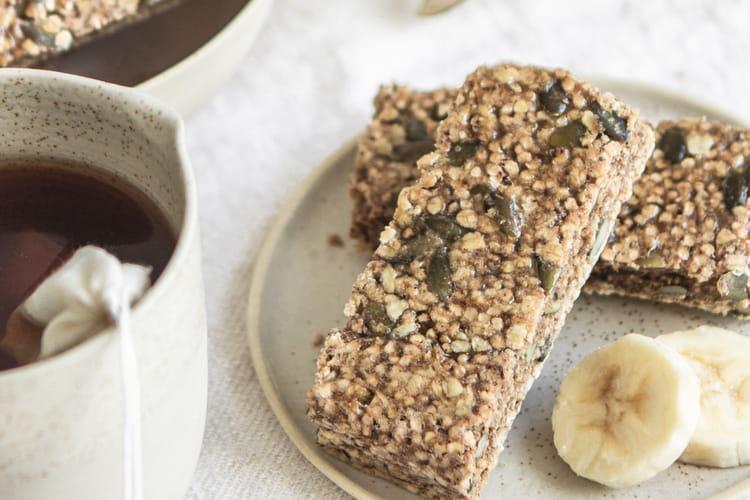 Barre énergétique banane, quinoa et riz soufflé