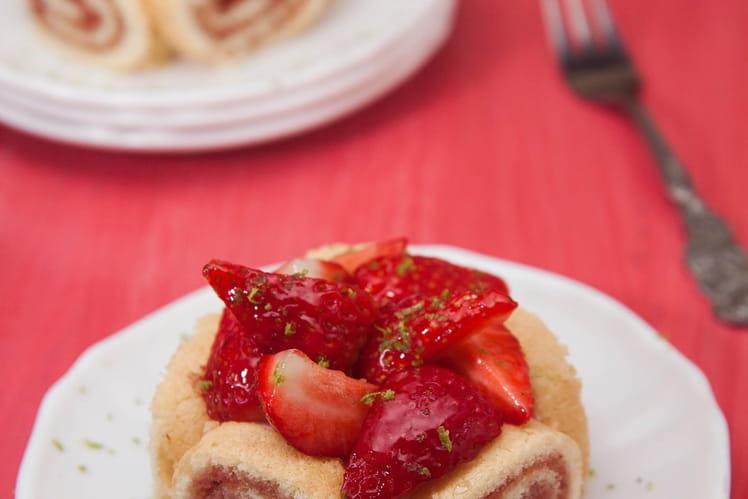 Charlotte aux fraises roulée