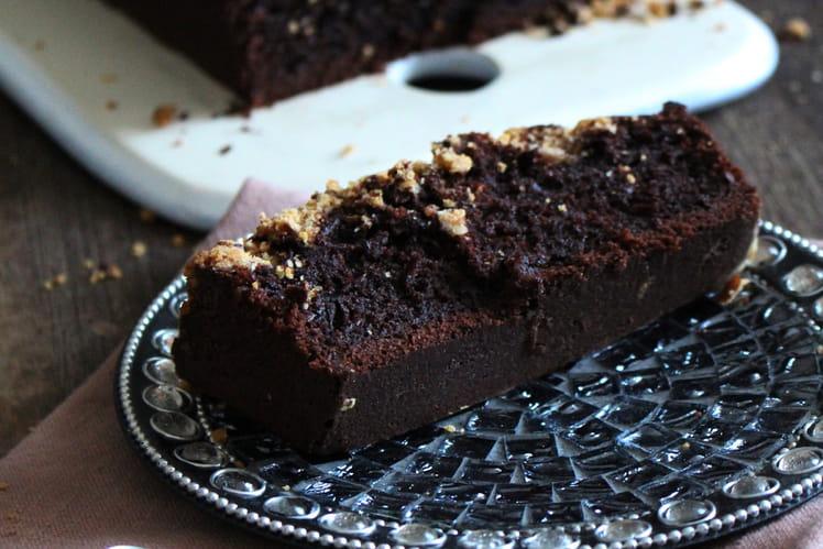 Cake au chocolat et crumble de noisettes