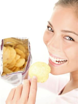 10 chips ne dépassent pas 100 kcal.