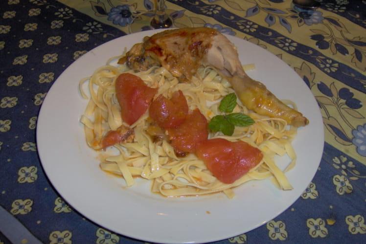 Poulet aux tomates et au miel
